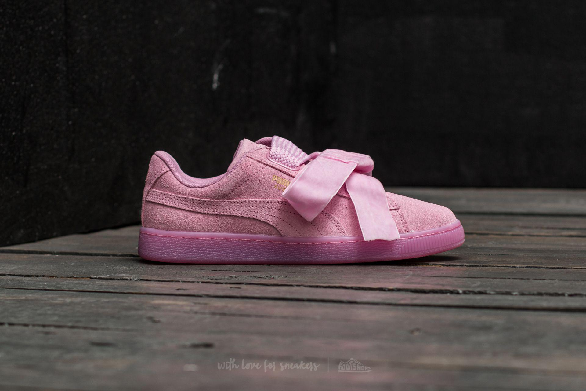 new style 10b56 ad149 Lyst - PUMA Suede Heart Reset Wn ́s Prism Pink-prism Pink in ...
