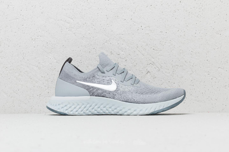 4b9130f19078 Nike - Gray Wmns Epic React Flyknit Wolf Grey  White-cool Grey - Lyst. View  fullscreen