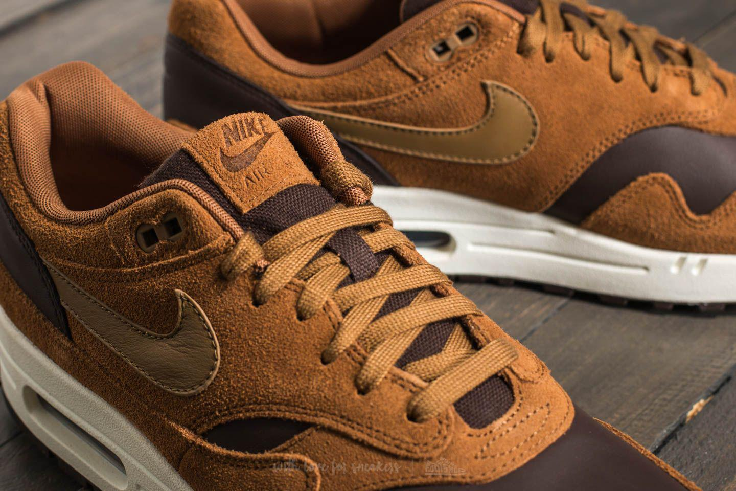 online store d172f 8d9fc Nike Air Max 1 Premium Leather Ale Brown  Golde Beige in Brown for ...