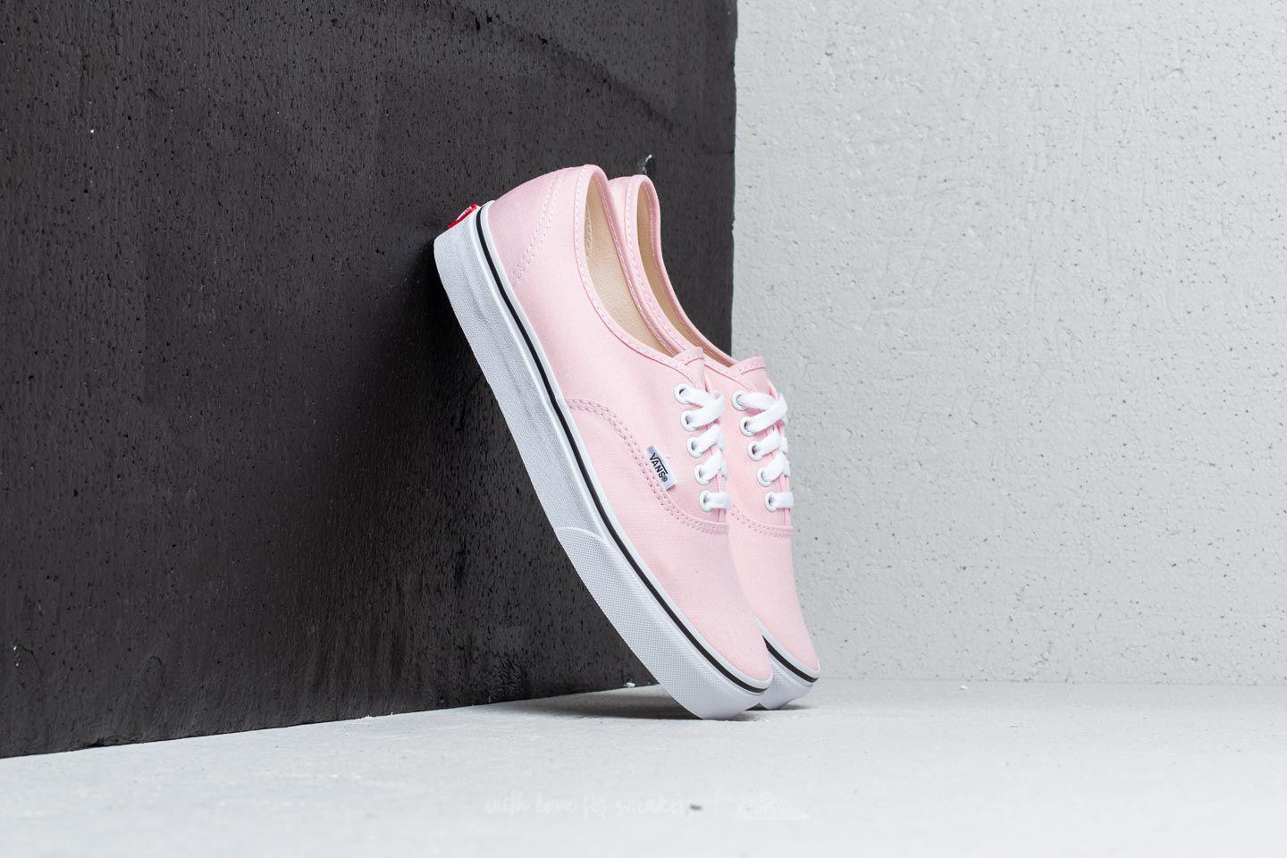 ed3083c67b1701 Lyst - Vans Authentic Chalk Pink  True White
