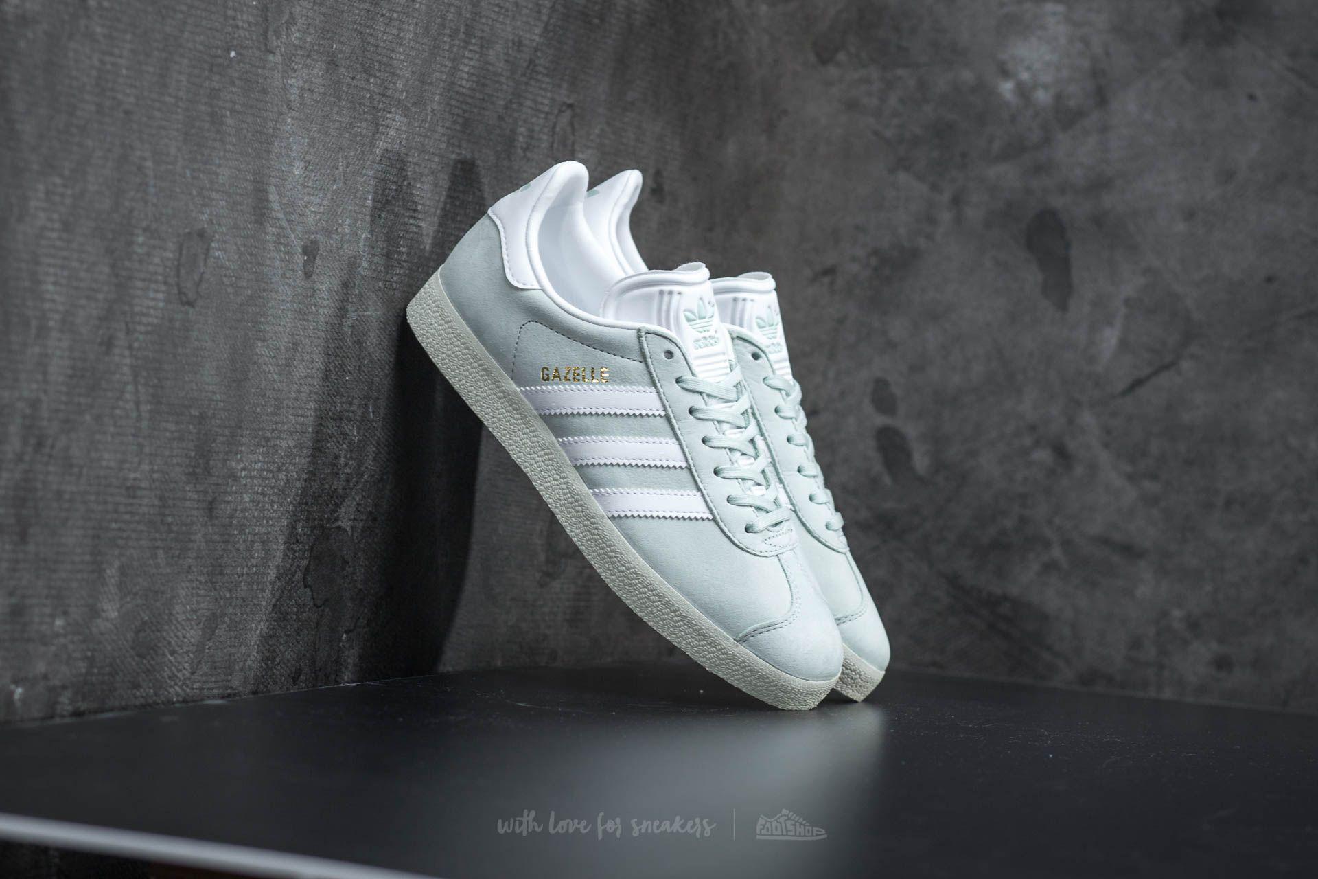 Lyst adidas originali adidas gazzella w lino verde / ftw bianco
