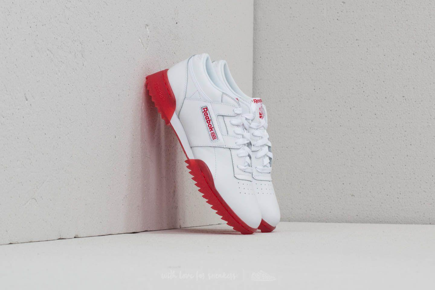 91b7a885e18a Lyst - Reebok Reebok Workout Clean Ripple Ice White  Primal Red-ice ...