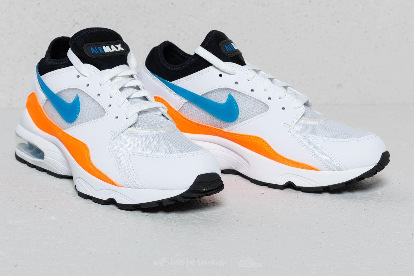 098fa081fc Lyst - Nike Air Max 93 White/ Blue Nebula-total Orange in Blue for Men