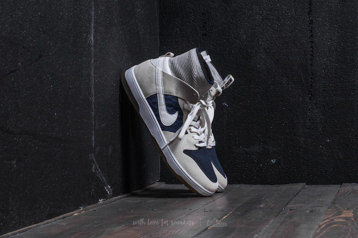 detailed look 03bd2 7ad4d Nike Sb Zoom Dunk High Elite Sail  Sail-binary Blue in Blue for Men ...