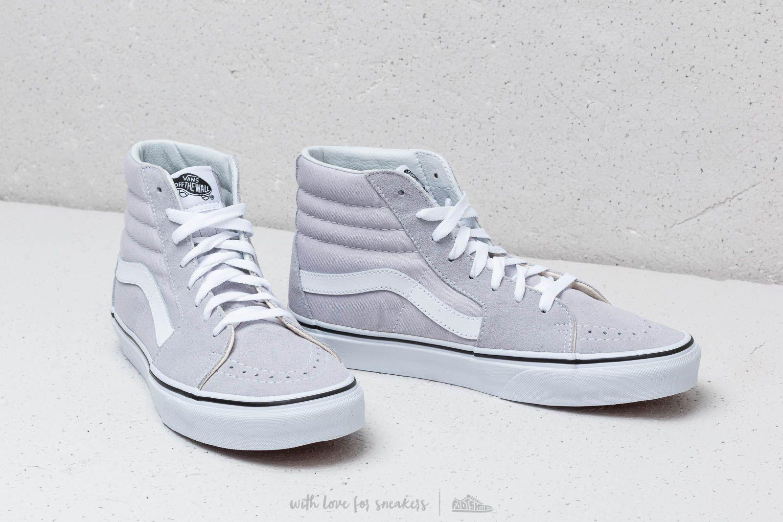 d31fc422d1e3a6 Lyst - Vans Sk8-hi Gray Dawn  True White in White for Men