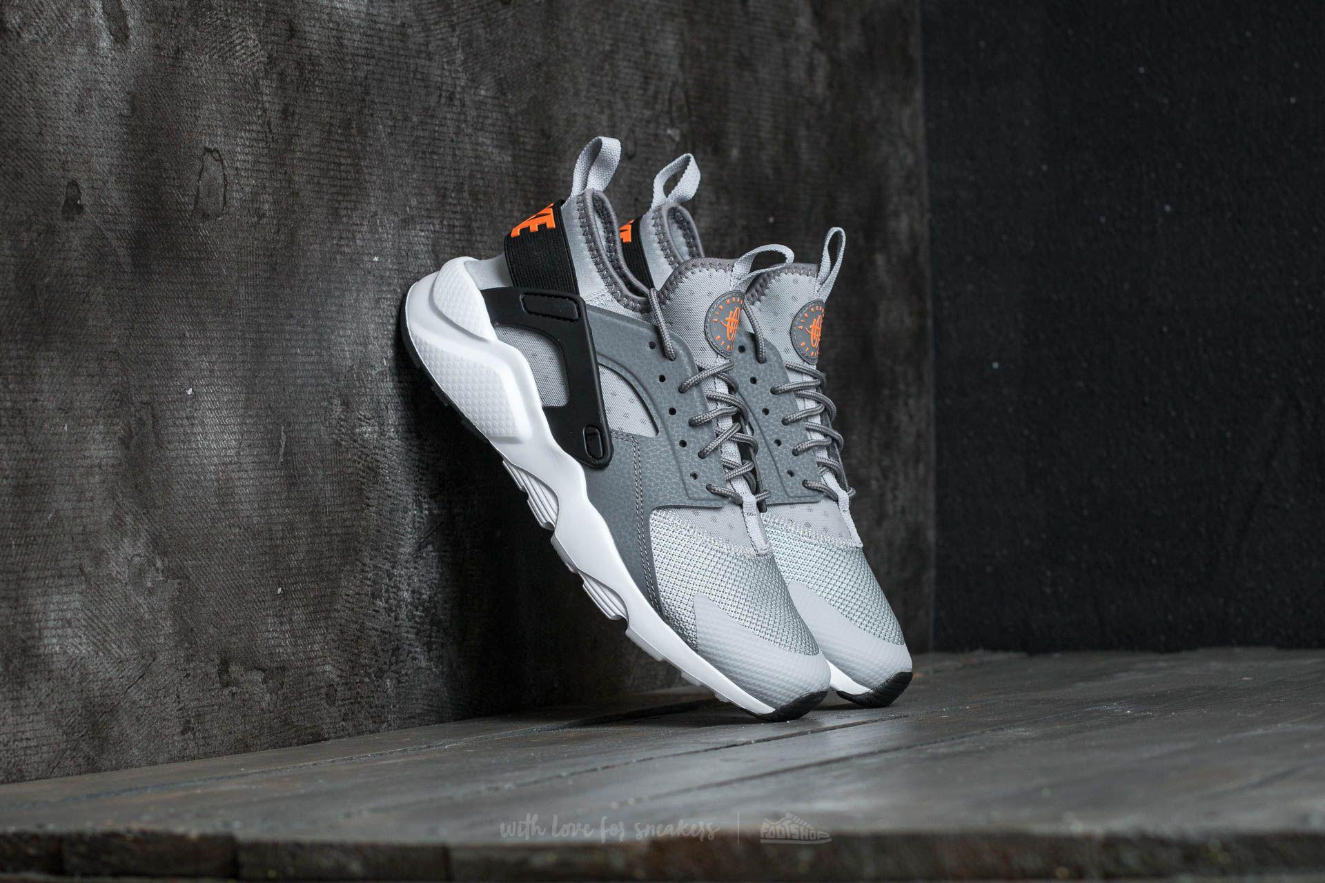 nike huarache gray and orange