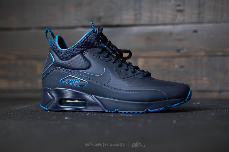 2014 nouveau grande vente Nike Air Max 90 Ultra Milieu De L'hiver Obsidienne Formateur Se / Blue Thunder Dwrhfzz