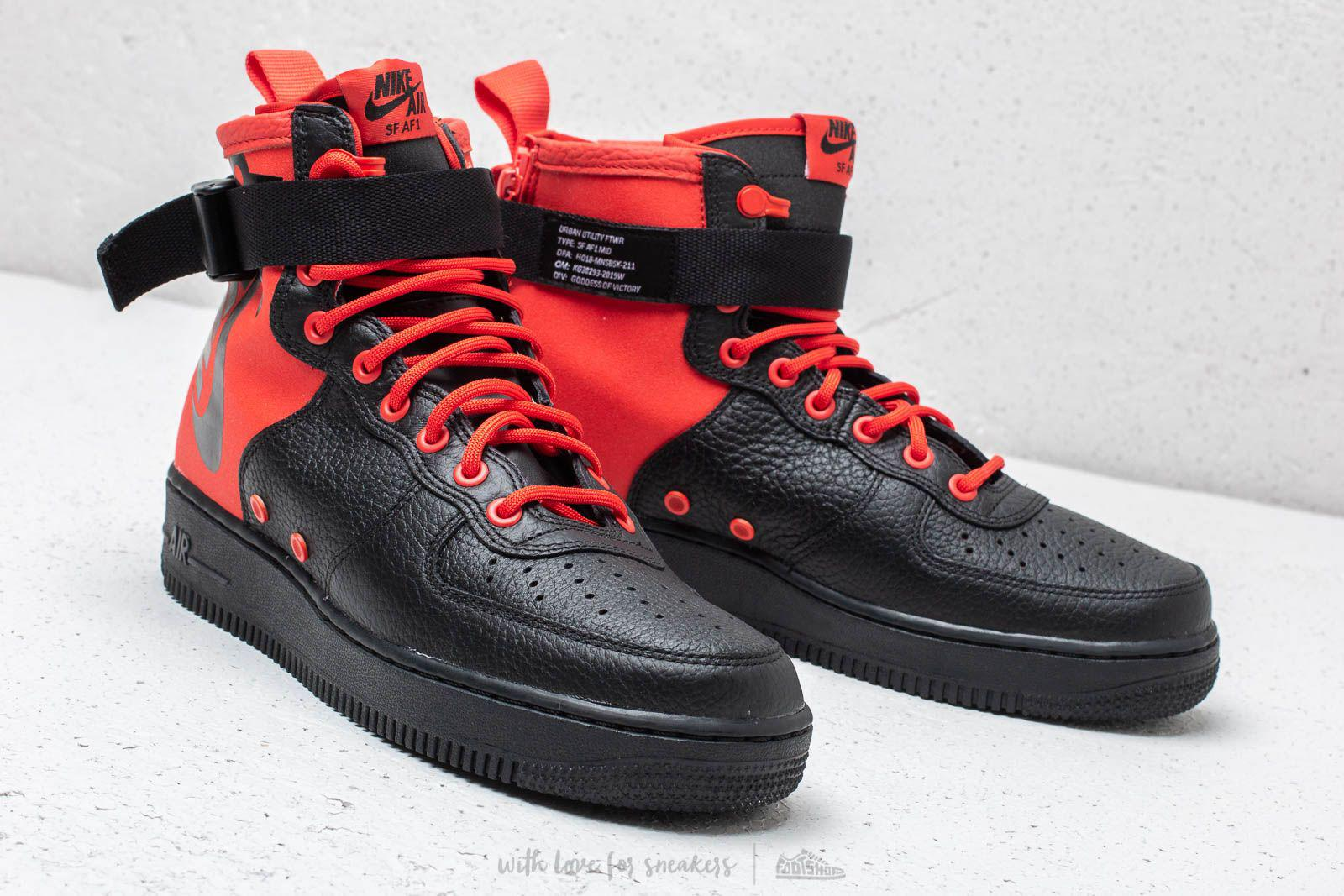 19502bb6b4ccf Lyst - Nike Sf Air Force 1 Mid Habanero Red  Habanero Red in Red for Men