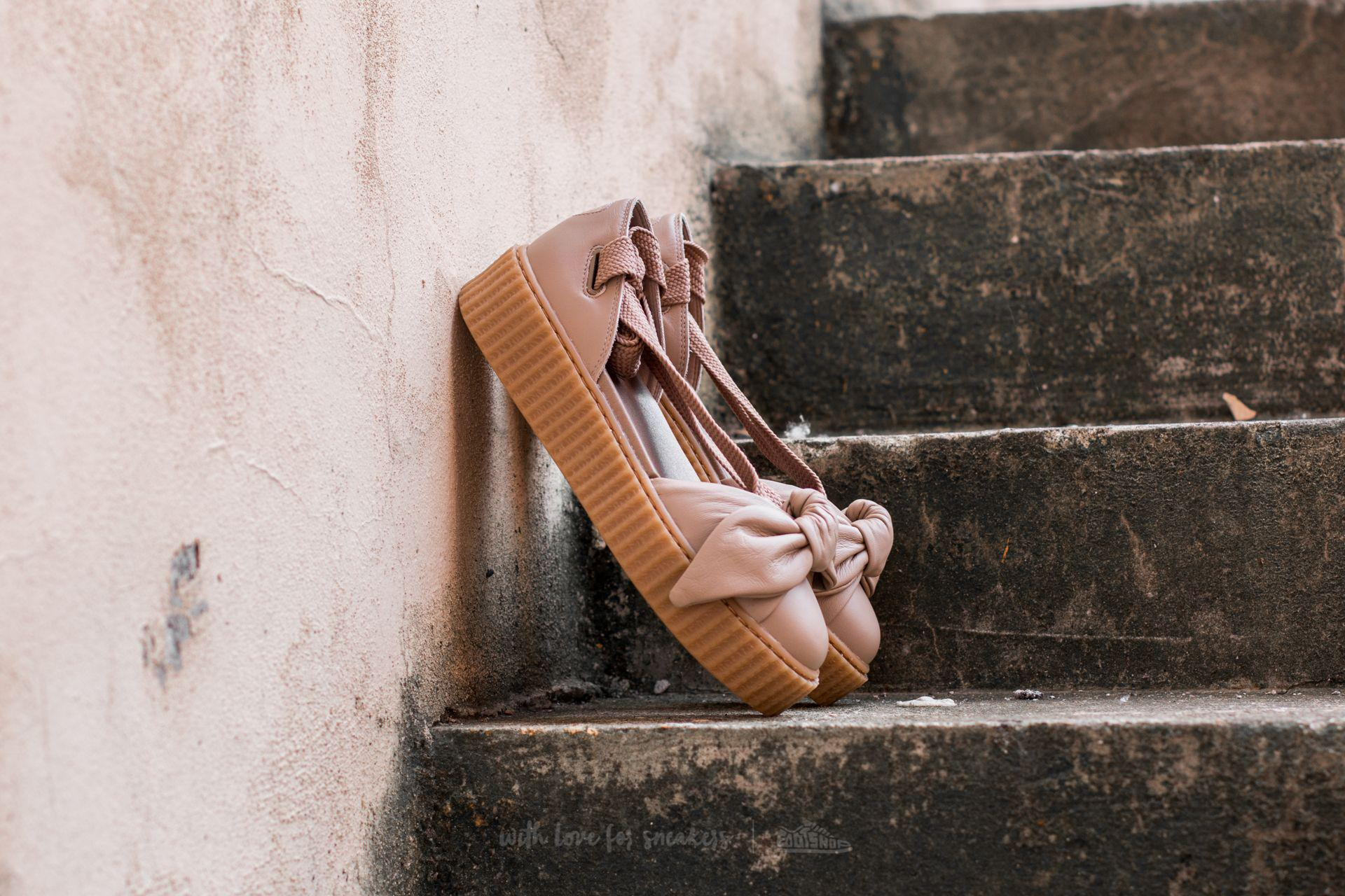151c0d9d28b9c5 Lyst - PUMA X Rihanna Bow Creeper Sandal Natural-natural-oatmeal