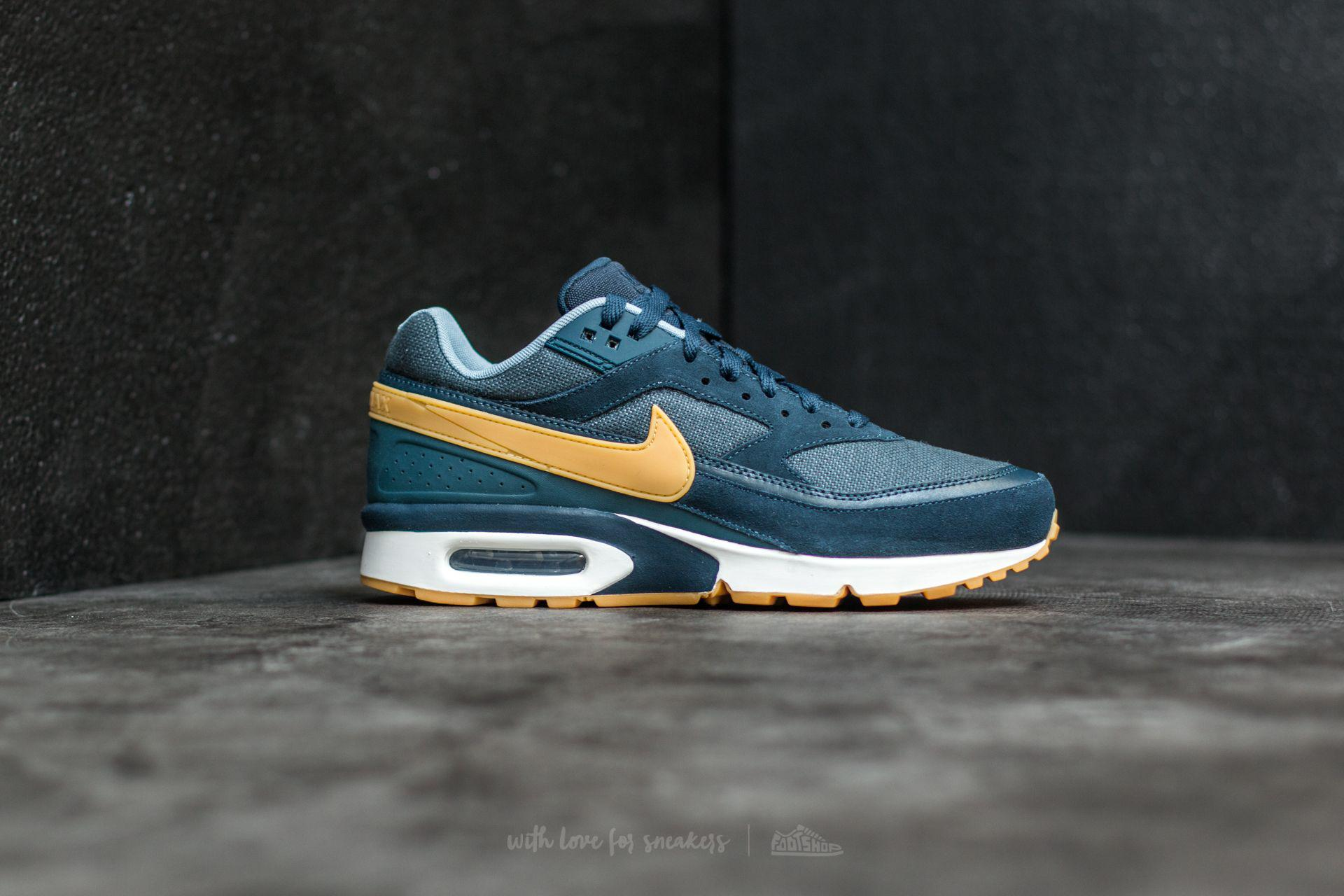 8eeb455fda ... greece lyst nike air max bw premium armory navy gum yellow in blue for  men 9401d