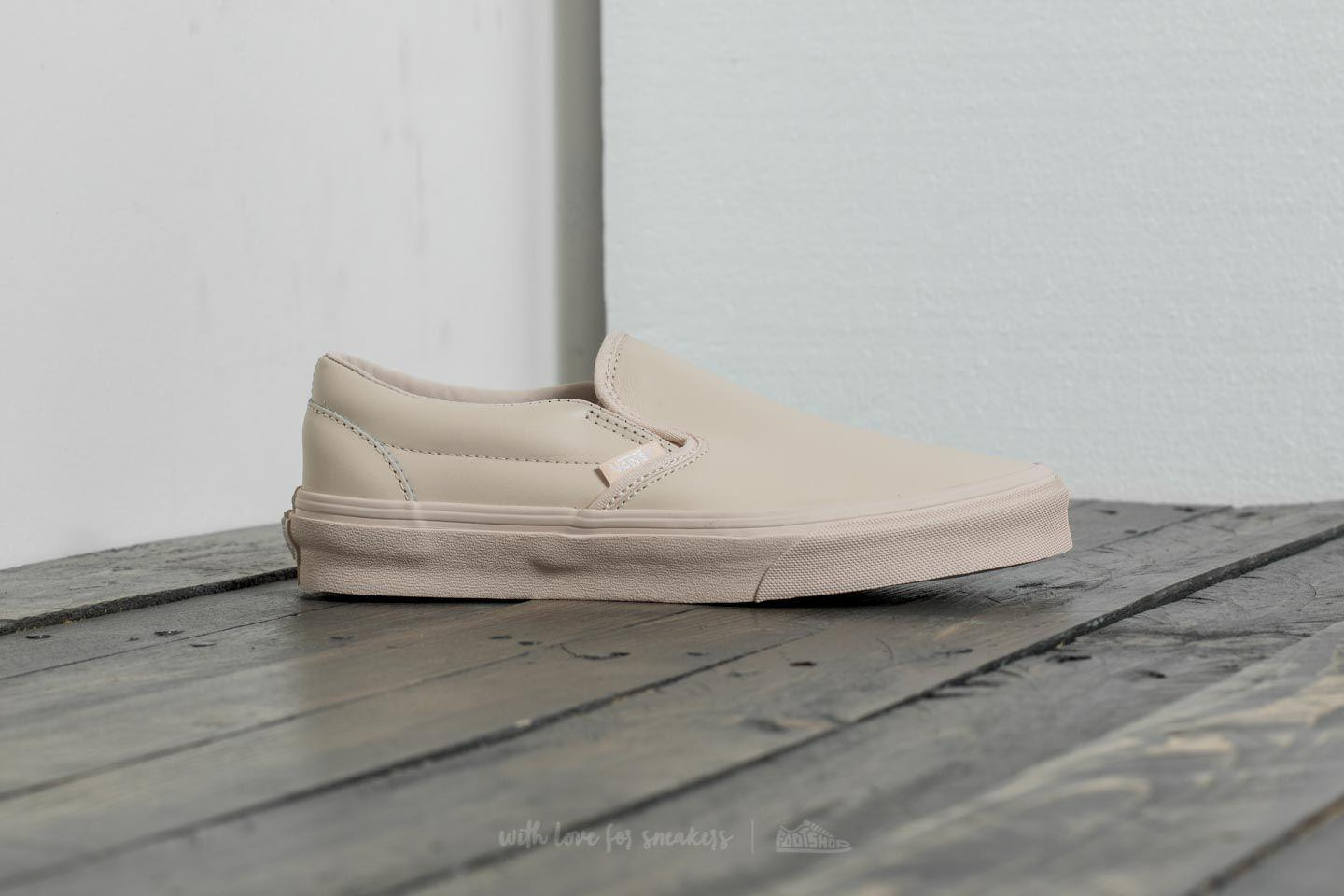 6593d23fcaf Lyst - Vans Classic Slip on D (leather) Whisper Pink  Mono