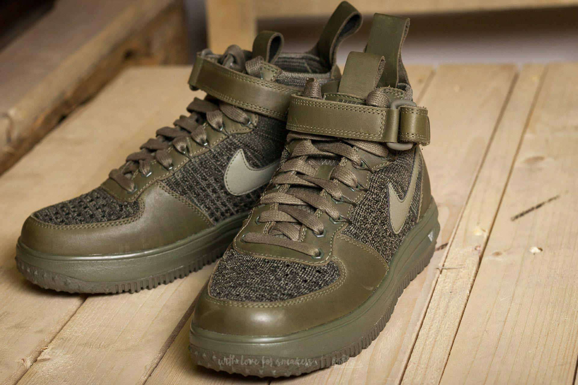 differently 8e353 84c94 Nike W Lunar Force 1 Flyknit Workboot Medium Olive  Medium Olive in ...