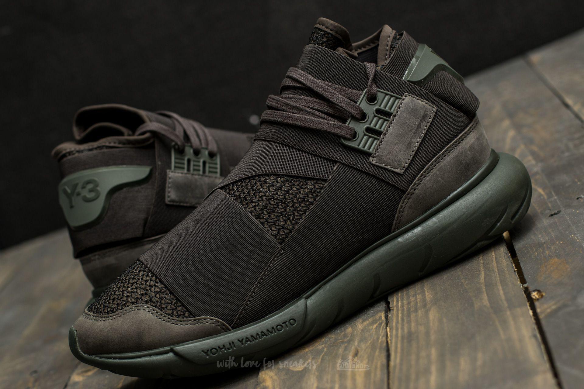 29122ba91 Lyst - Y-3 Qasa High Black Dark Green in Black for Men