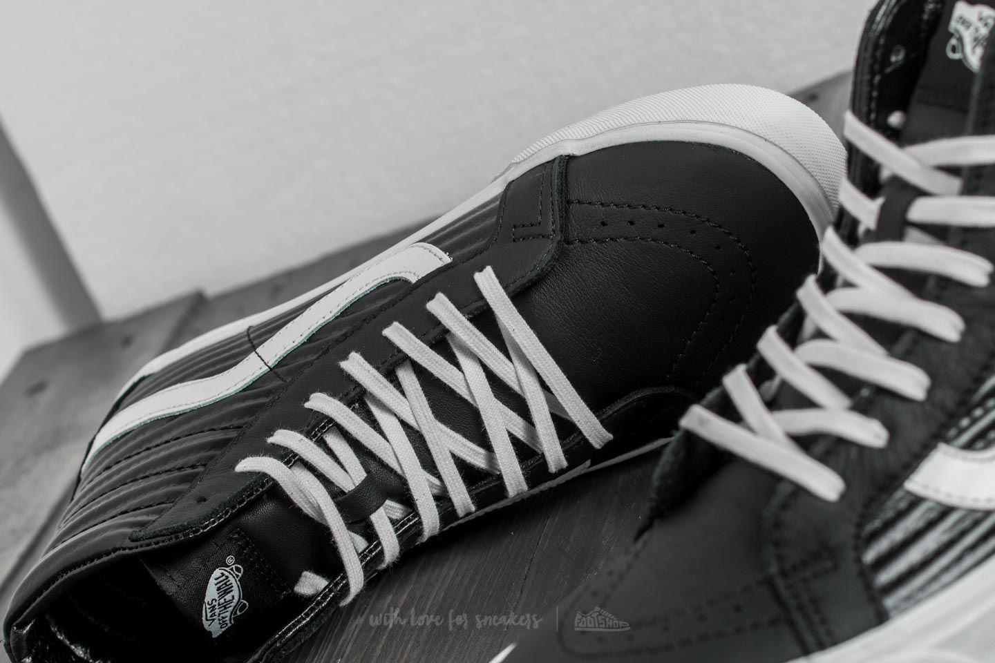 662b062fbb2 Lyst - Vans Sk8-hi Reissue (leather  Fleece) Black  True White in ...
