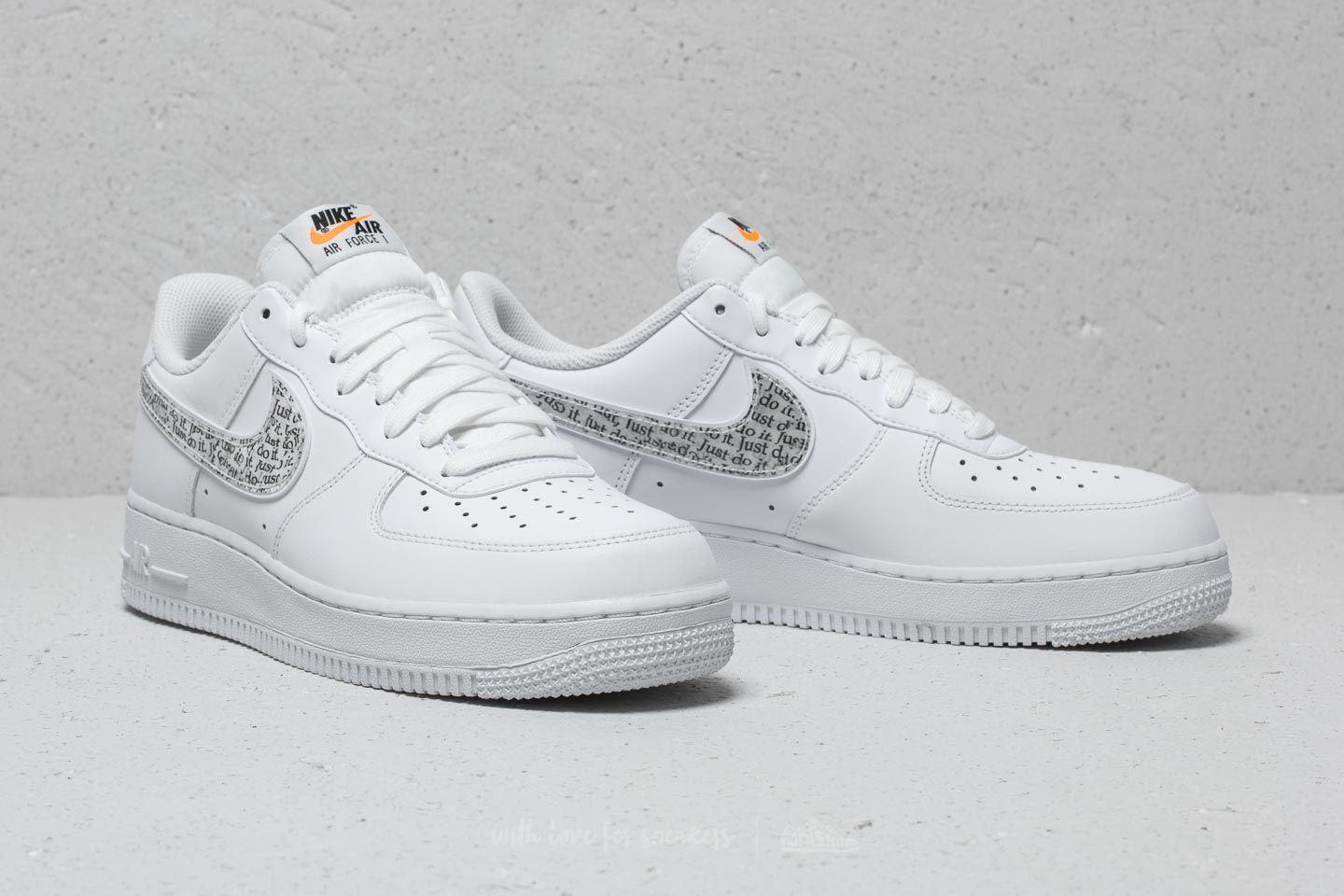 sale retailer d98a1 11da6 Nike Air Force 1 ́07 Lv8 Jdi Lntc White  White-black-total Orange in ...