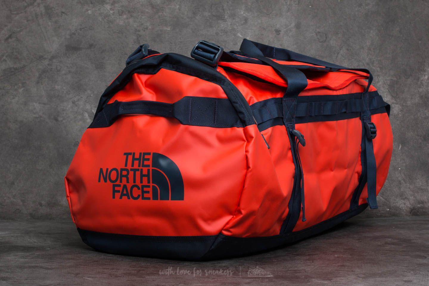 31e4eeaca37 Footshop The North Face Base Camp Large Duffel Poinciana Orange ...