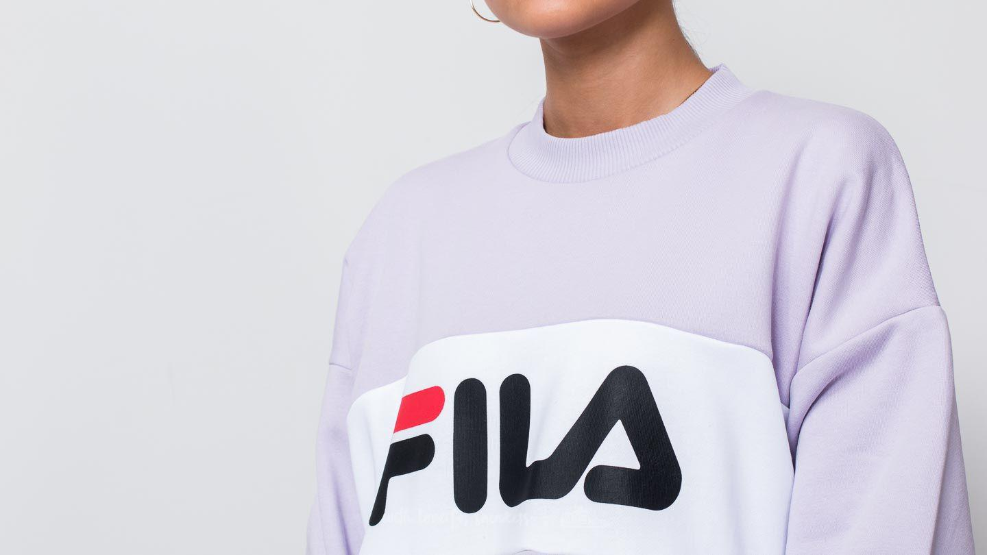 Petal Lyst In Leah Crew Sweat Bright Fila Orchid White N0Onk8wPX