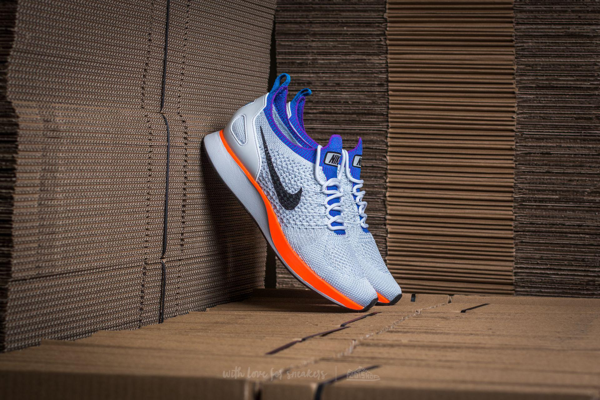 e520f0e3c7e7 Lyst - Nike W Air Zoom Mariah Flyknit Racer Premium White  Hyper Crimson