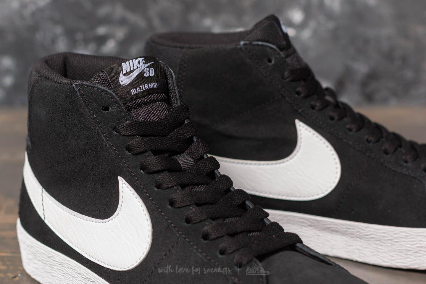 Lyst - Nike Sb Zoom Blazer Mid Black  White-white-white in White for Men 366eb8198