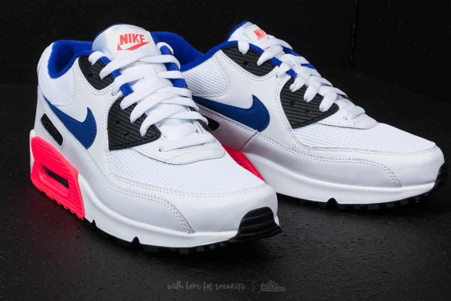 separation shoes be661 e9f64 Nike Air Max 90 Essential White/ Ultramarine/ Solar Red for Men - Lyst