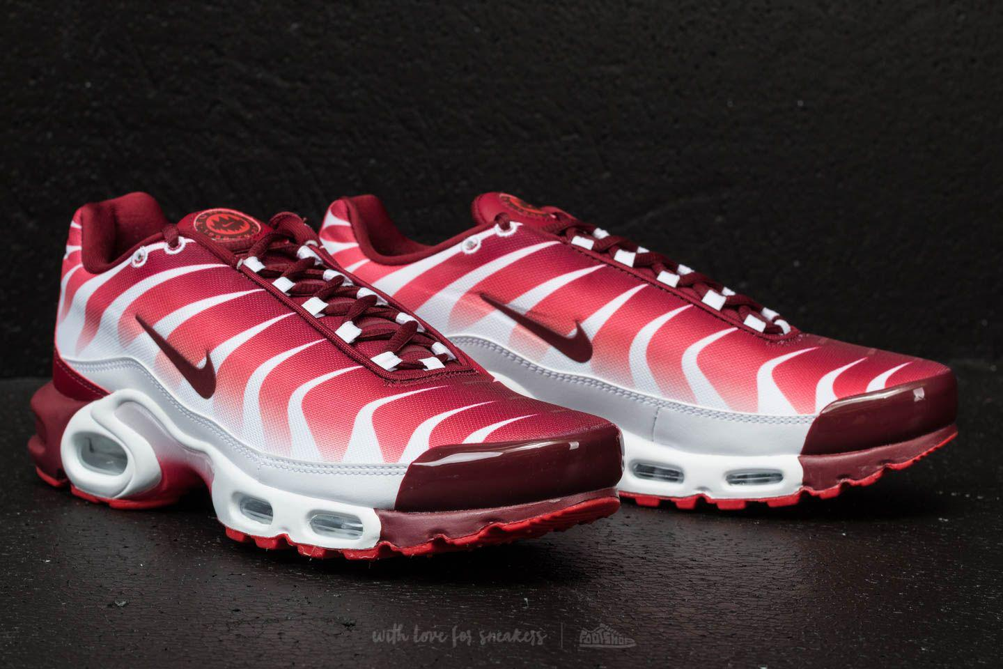 72414c48ad73 ... best price lyst nike air max plus tn se white team red speed red in red