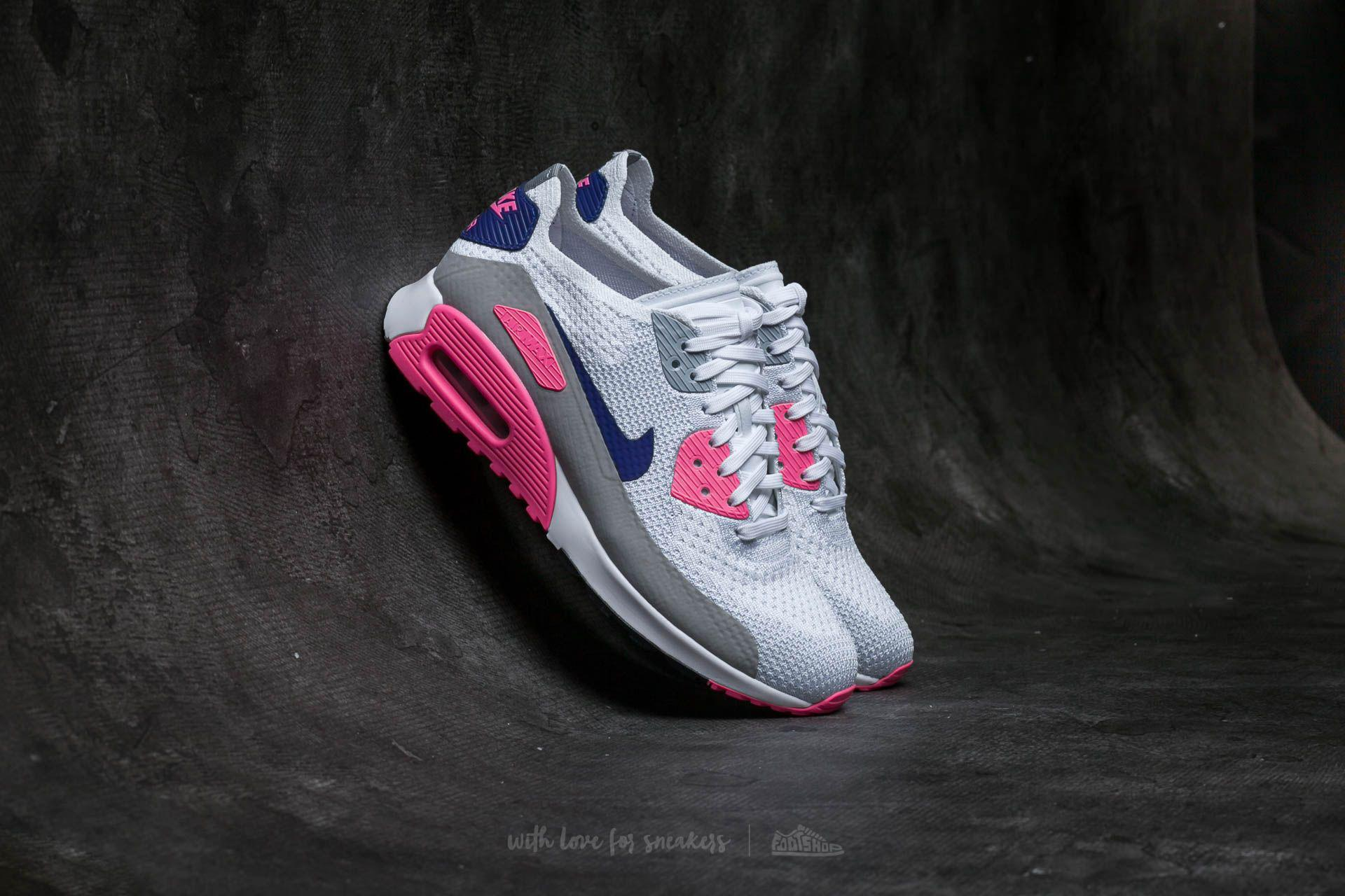 26fe08507acec ... womens w air max 90 ultra 2.0 flyknit white concord laser pink black