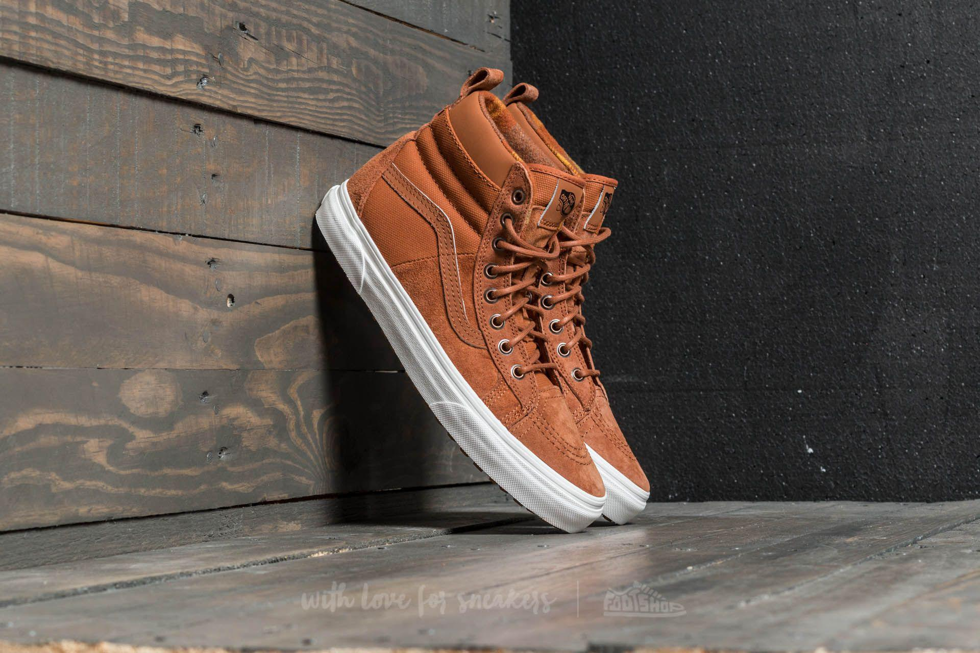6cb6c0b84ca014 Lyst - Vans Sk8-hi 46 Mte Dx (mte) Glazed Ginger  Flannel for Men