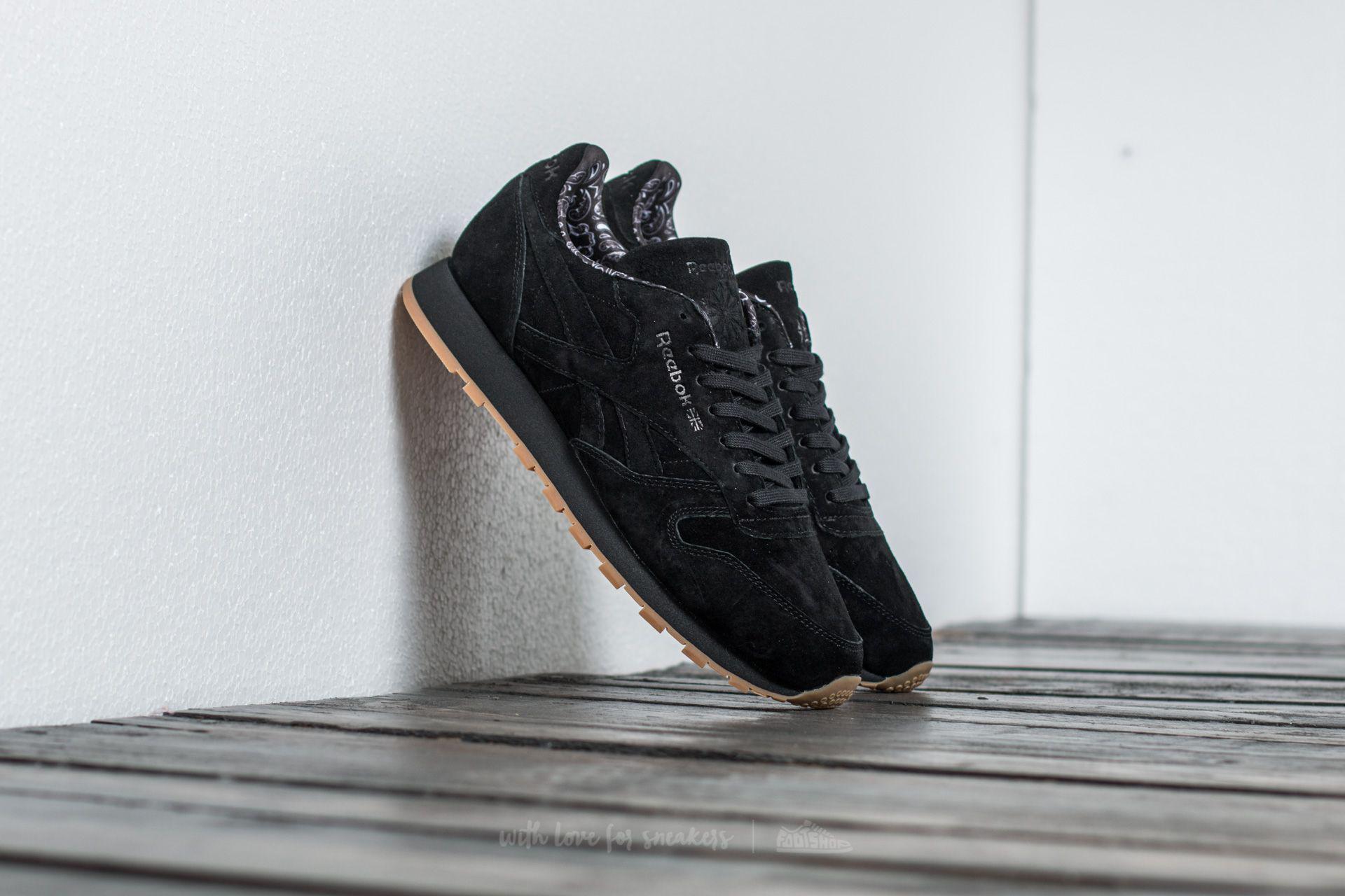 d0c932293908a Lyst - Reebok Classic Leather Tdc Black  White-gum in Black for Men