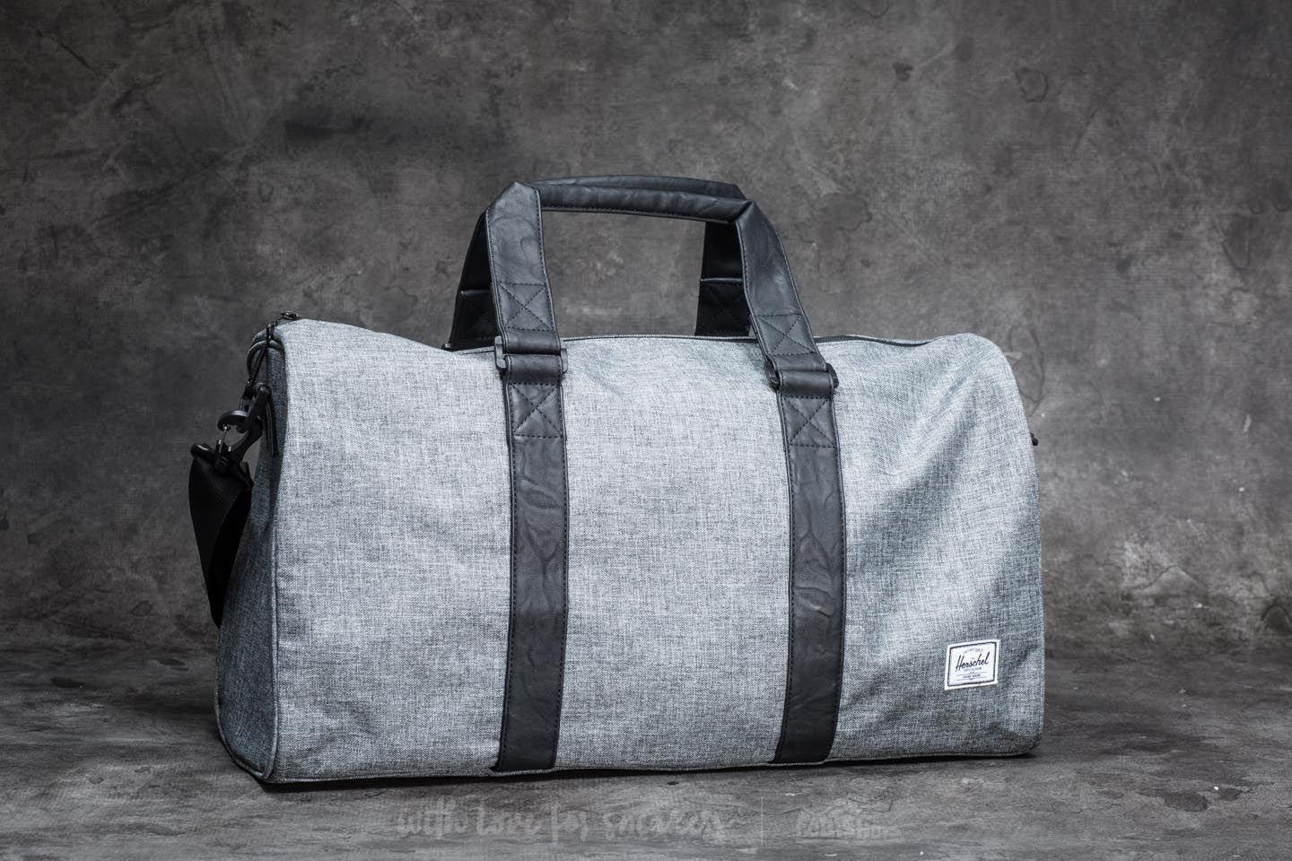 Lyst - Herschel Supply Co. Ravine Duffle Bag Raven Crosshatch  Black ... 3c76cd4283ed4