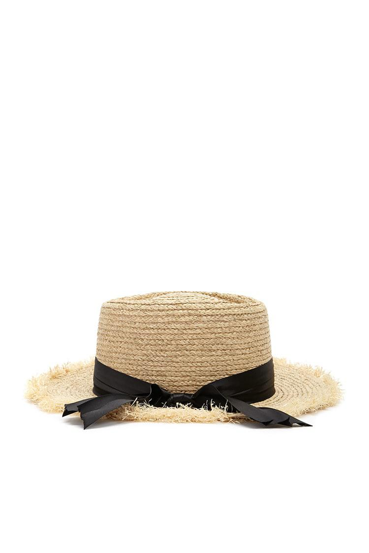 7e0e5151384 Lyst - Forever 21 Frayed Straw Hat in Natural