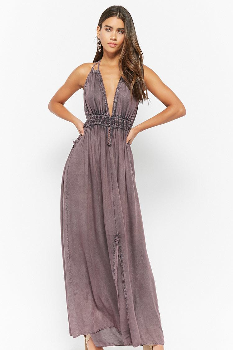 137dcd024a3 Forever 21 Boho Me Maxi Dress in Purple - Lyst