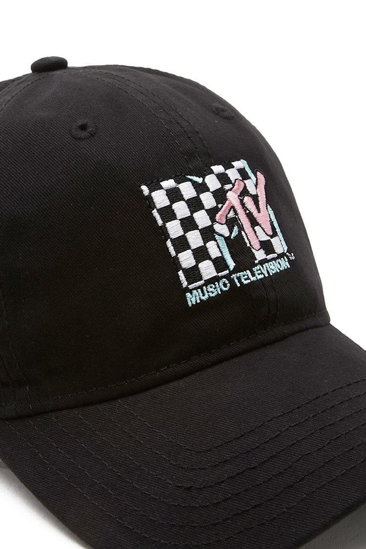 74a6ed024a3 Lyst - Forever 21 Mtv Baseball Cap in Black for Men