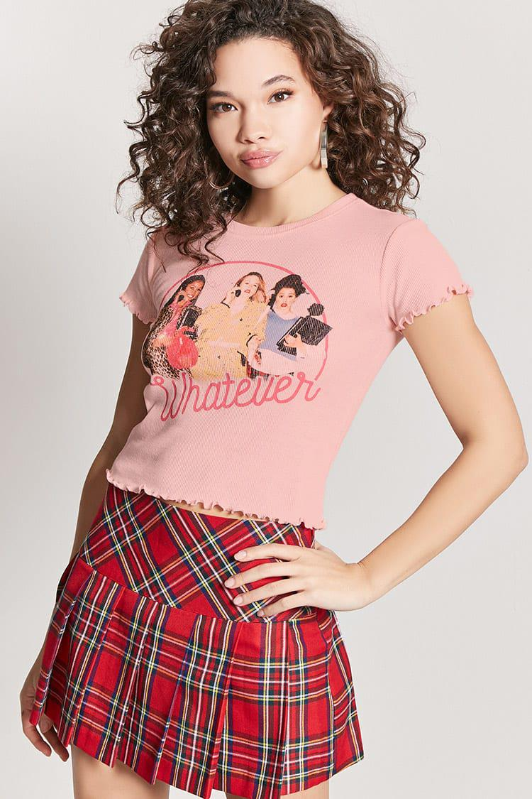 5121211eb Forever 21 Clueless Graphic Tee in Pink - Lyst