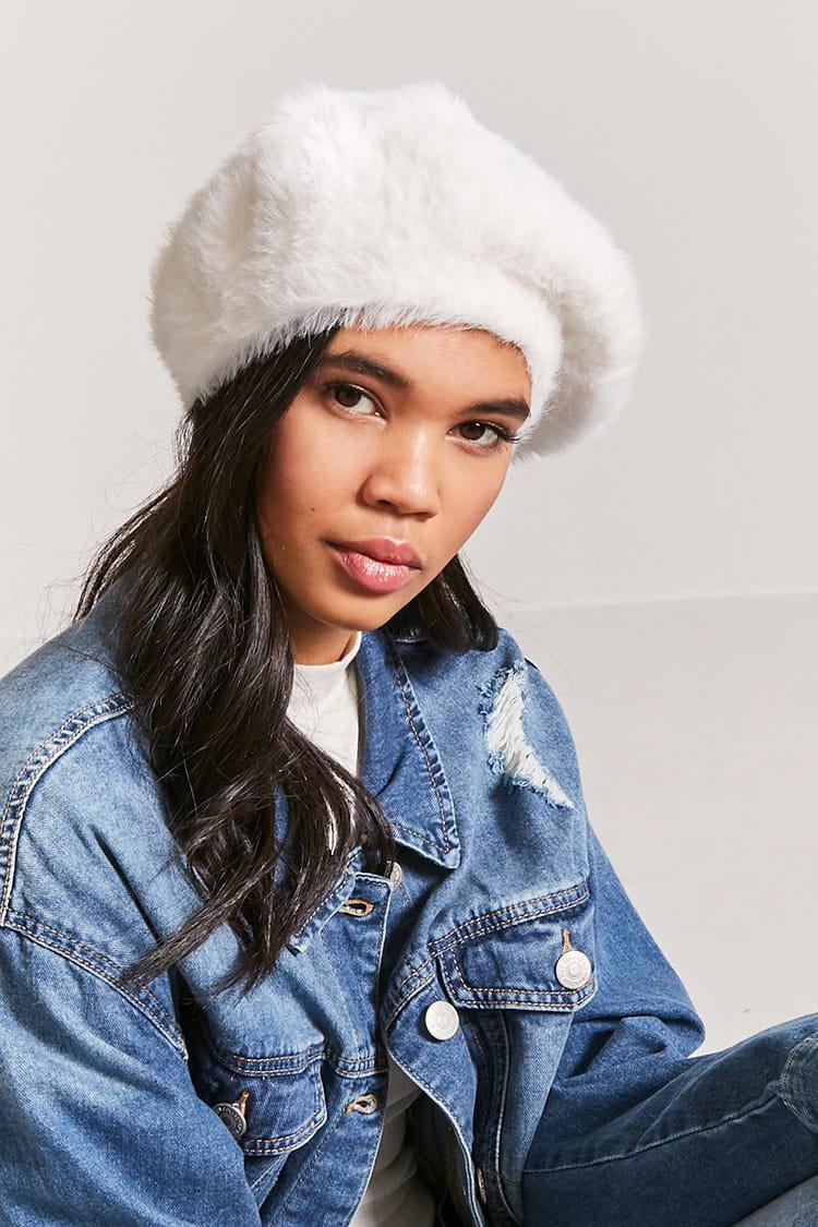 1ffbed9684e1e Forever 21 Faux Fur Beret - Lyst