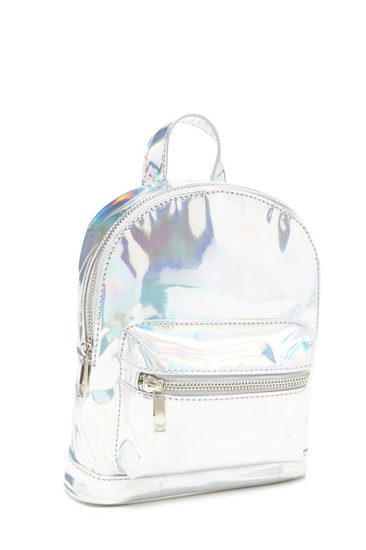 ed663c8dffa3 Lyst - Forever 21 Holographic Mini Backpack in Metallic