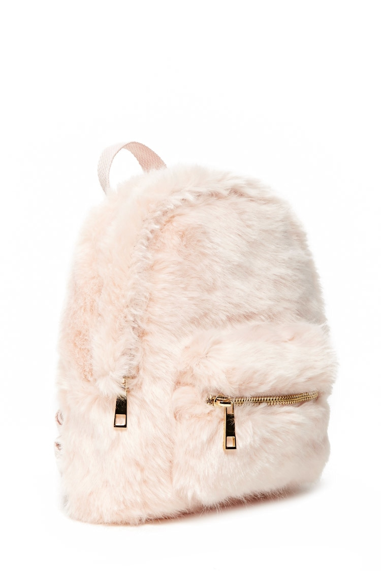 Forever 21 Faux Fur Mini Backpack | Lyst