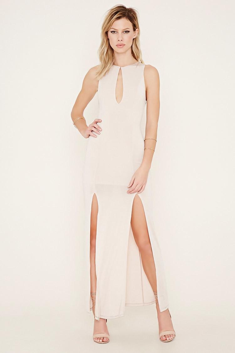 Forever 21 maxi dress m slit