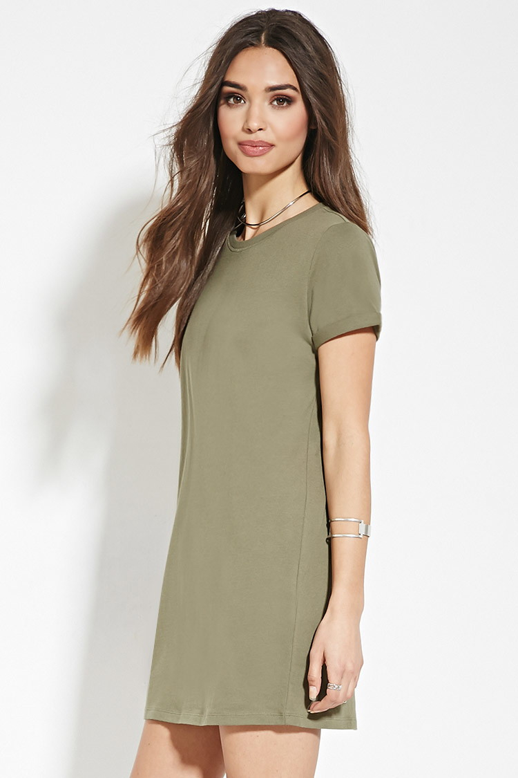 01dfdab44a Olive Green Shirt Dress Outfit
