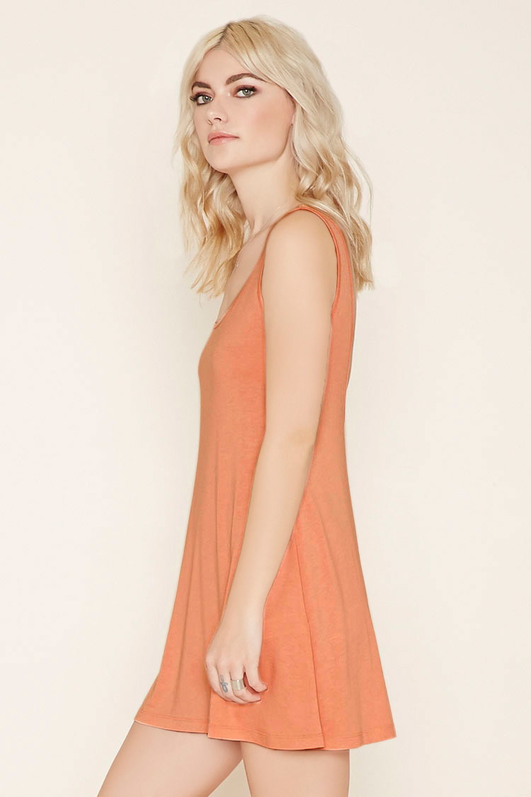Light orange cocktail dress