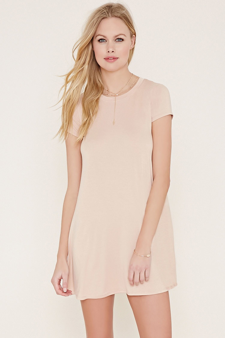 a614ec901b3a Lyst - Forever 21 Swingy T-shirt Dress in Natural