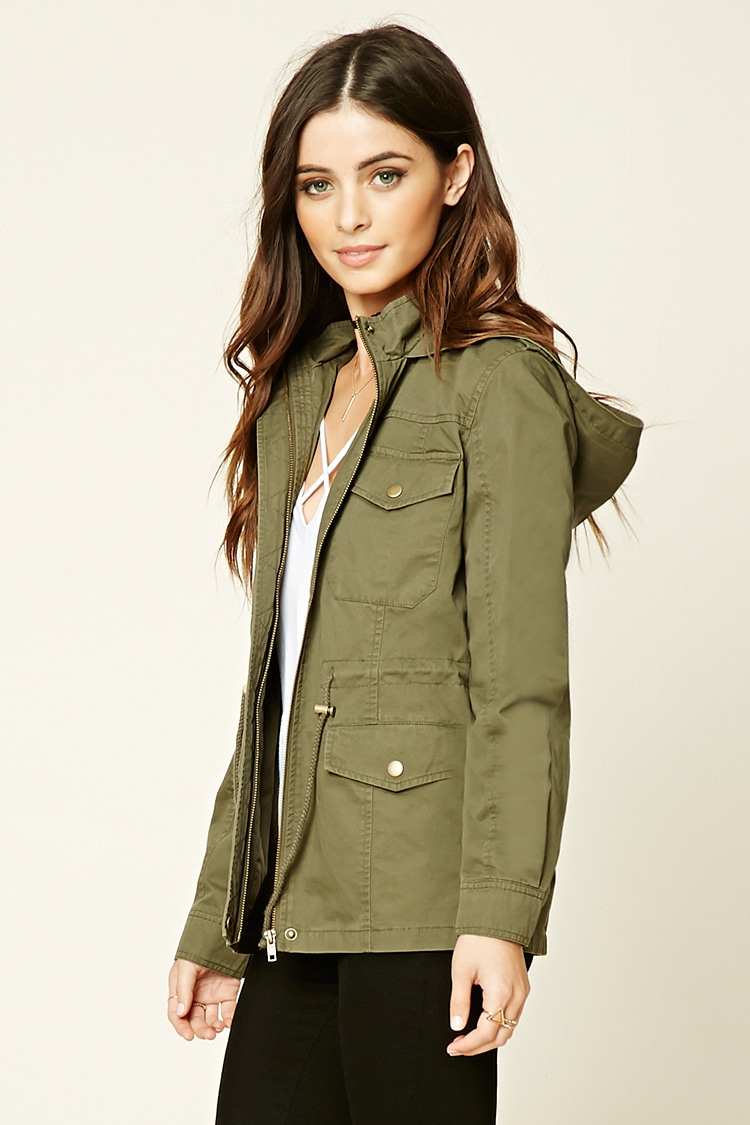 Lyst Forever 21 Classic Utility Jacket In Green