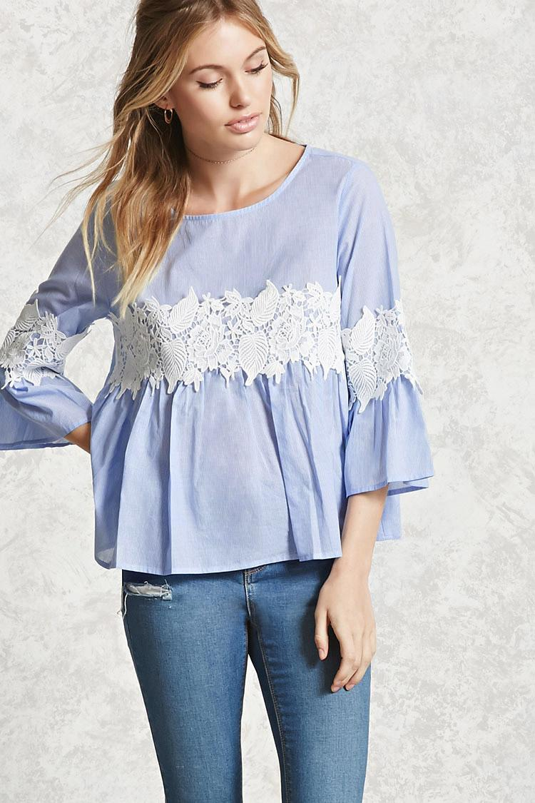 21 Best Grow Your Tarot Business Online Images On: Forever 21 Contemporary Crochet Top In Blue