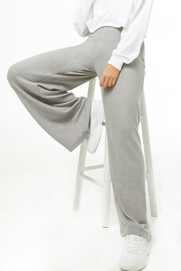 06ae639bb0b6 Lyst - Forever 21 Wide-leg Fleece Sweatpants in Gray
