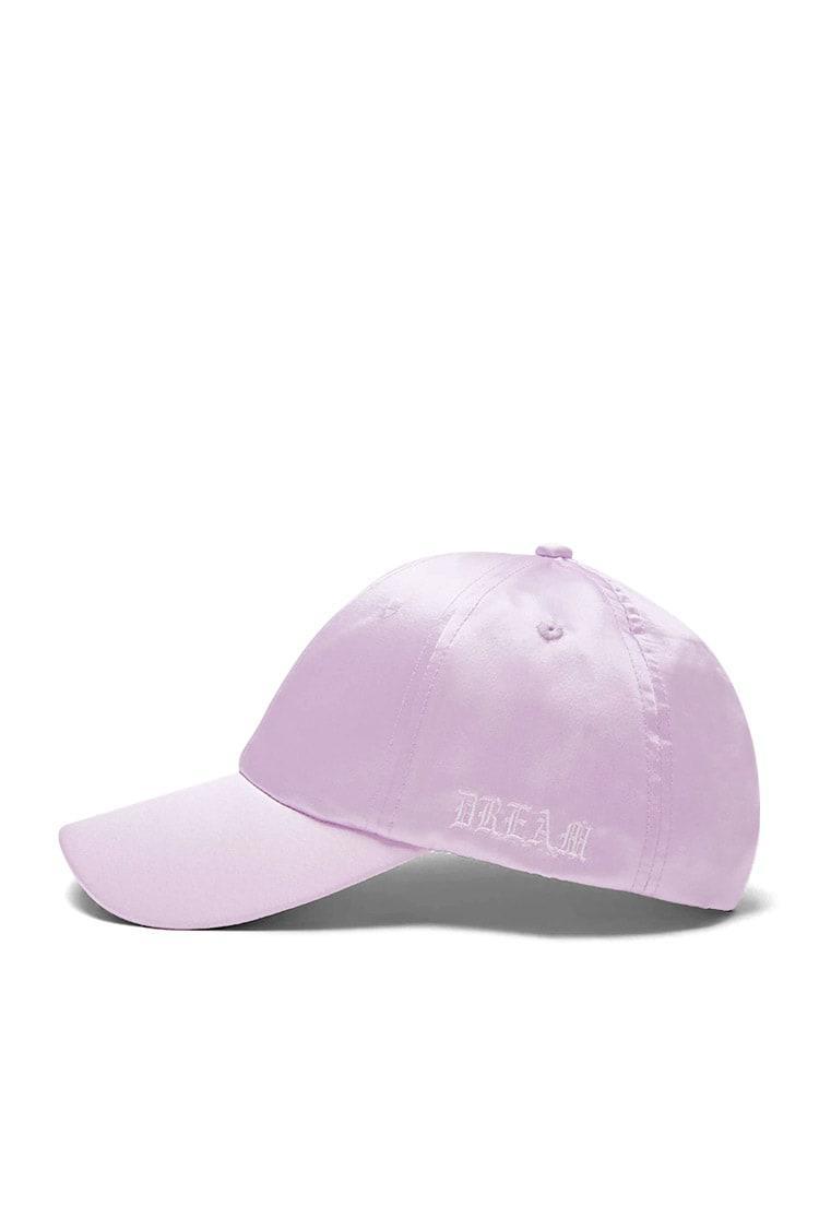 e88474fee67e8 Lyst - Forever 21 Dream Satin Baseball Cap in Purple