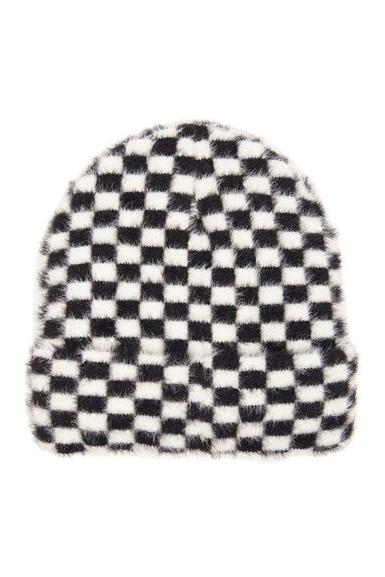 8a8e9682193a3 Lyst - Forever 21 The Grinch Checkered Print Beanie in Black
