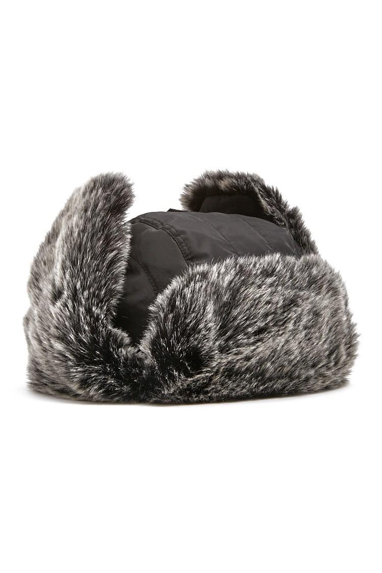 b0ff7be3c4c Forever 21 - Gray Faux Fur Trapper Hat - Lyst. View fullscreen