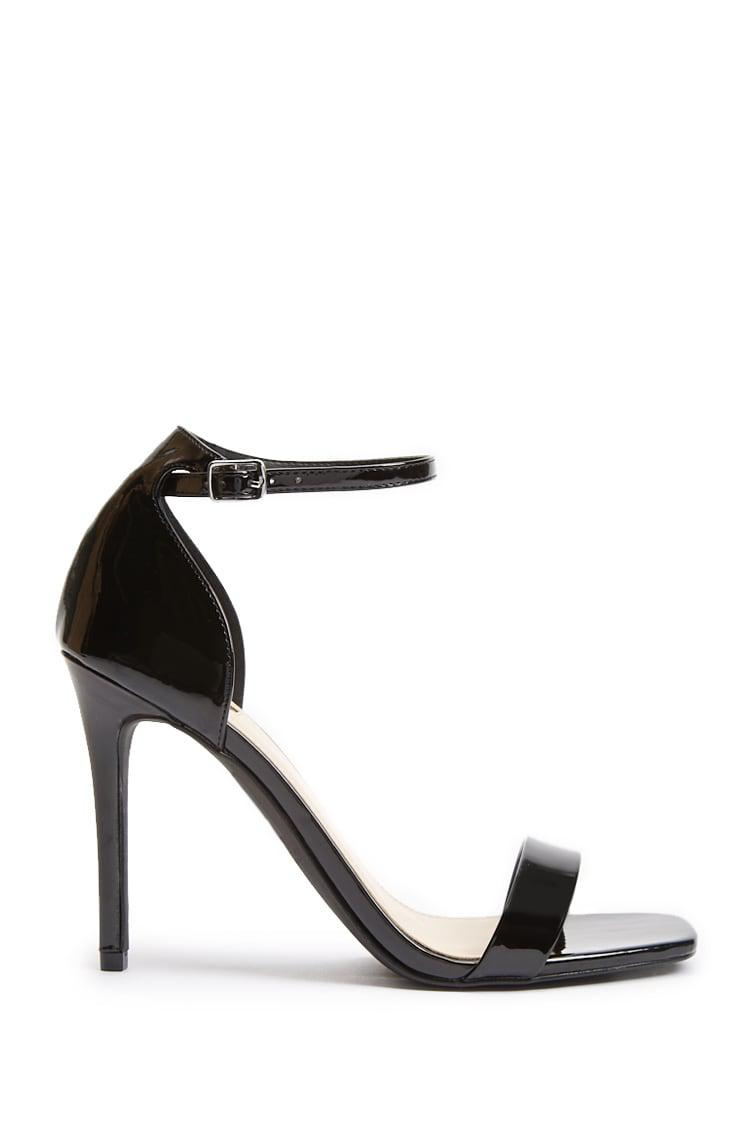 fcbd8354740 Lyst - Forever 21 Square-toe Stiletto Heels in Black