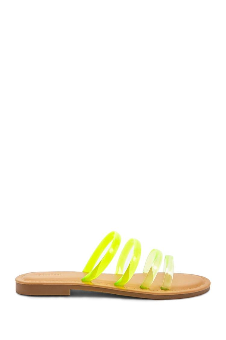 929263b7e0c90 Lyst - Forever 21 Strappy Jelly Sandals in Yellow