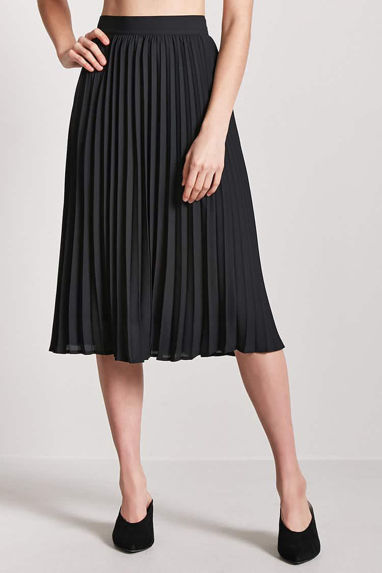 1ff89f9af3 Forever 21 Accordion Pleated Skirt in Black - Lyst