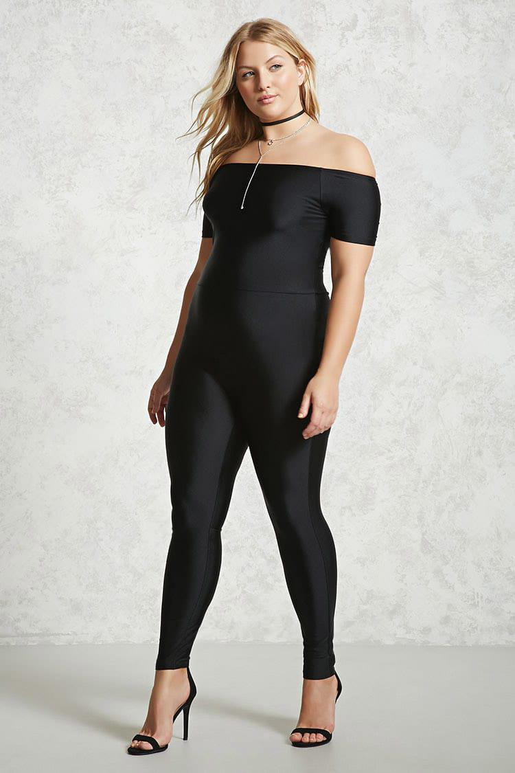 e269b869dee3e Forever 21 Plus Size Sheeny Jumpsuit in Black - Lyst